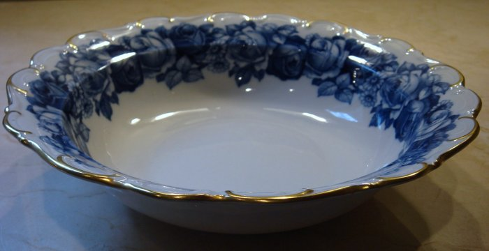 Schumann Bavaria HEIRLOOM Round Vegetable Bowl Blue & White Transferware