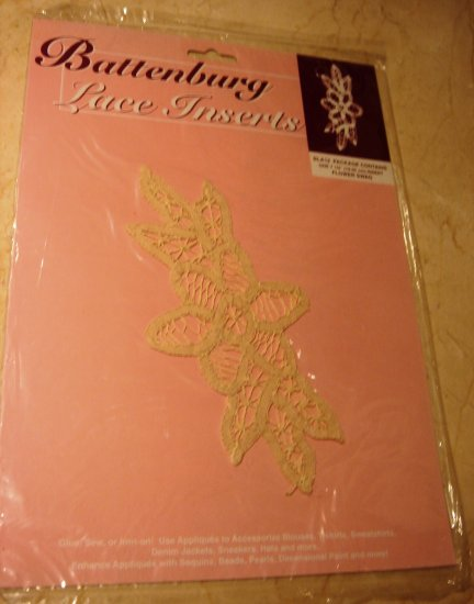 Battenberg Lace Insert Trim Flower Swag New in Pkg