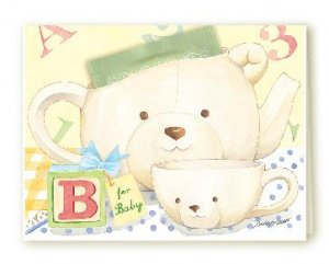 A New Baby Congratulations Tea Cup Greeting Card