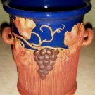 Handsome Vintage SIGNED Art Pottery Wine Bucket