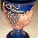 Set of 4 Signed Vintage Art Pottery Wine Goblets