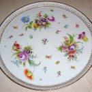 14 inch Antique Dresden Flowers Platter by Richard Klemm