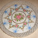 Hand Painted Schierholz Germany Pierced Cake Plate