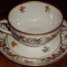 Schumann Bavaria Cup & Saucer Set Dresden Flowers