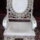 ORNATE ca. 1880 Victorian Wakefield Rattan Co. Chair Armchair