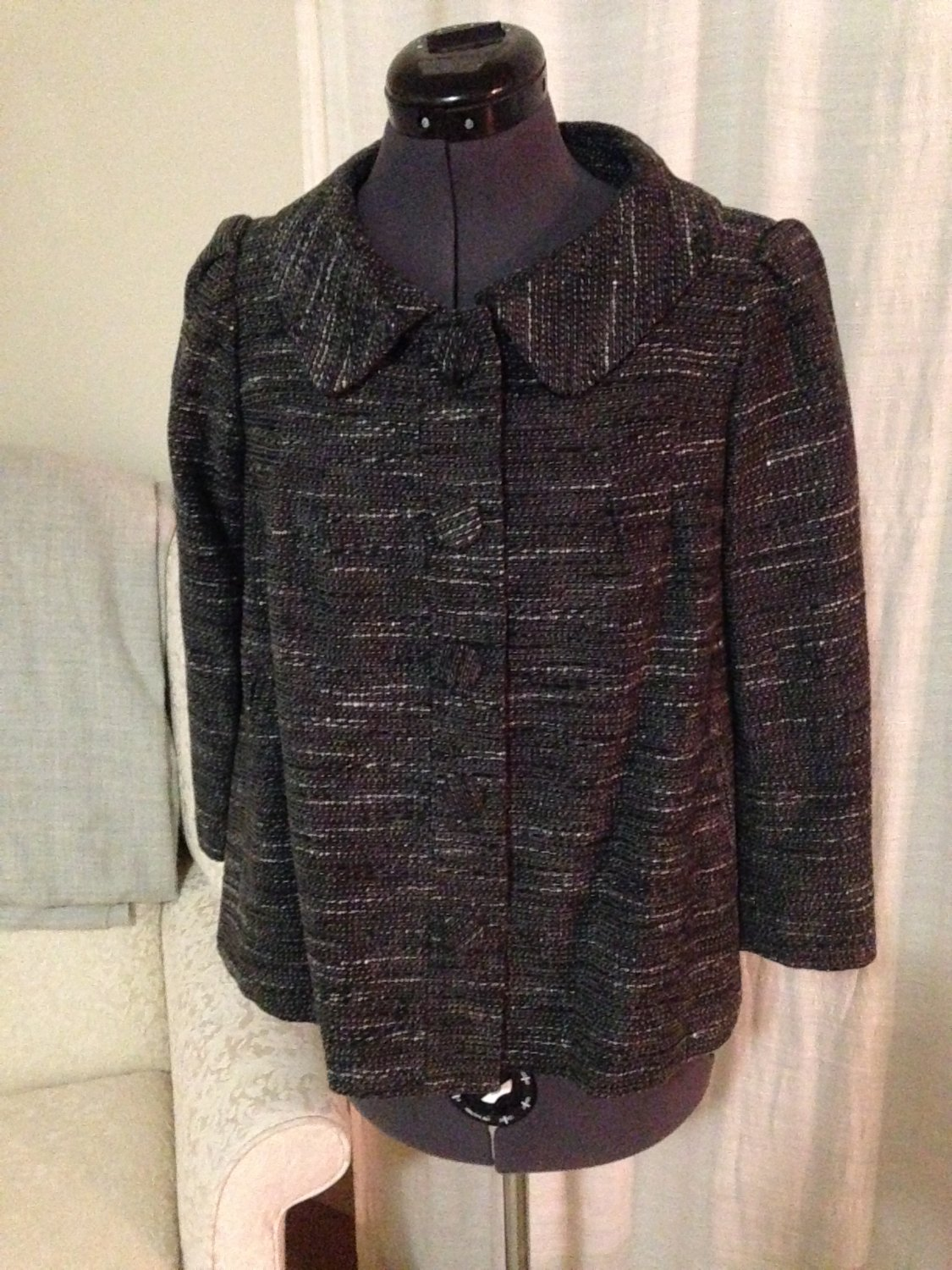 Heavy Gray Swing Coat, H & M, Size 6