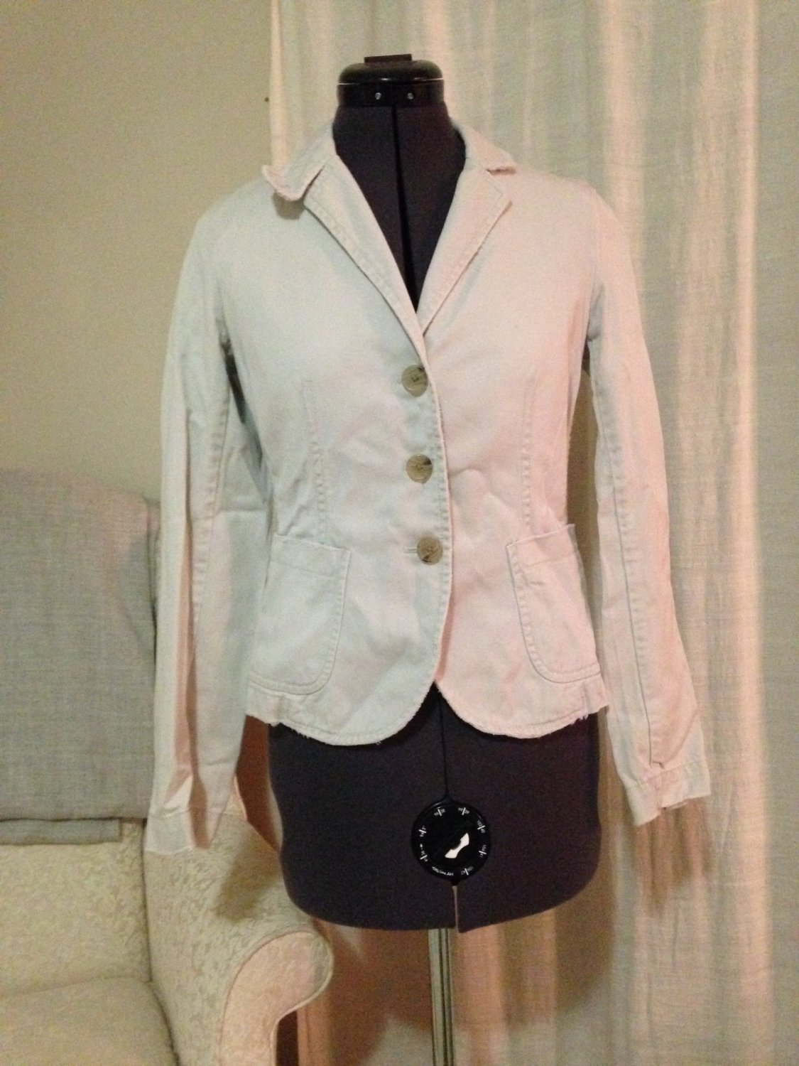 Khaki Fitted Jacket, J Crew Size XS