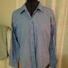 Blue Pinstripped Blouse, Liz Claiborne Sport, Size M