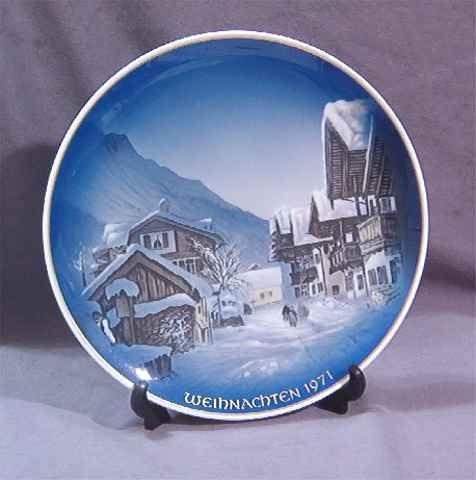 1971 Rosenthal Christmas Plate Weihnachten