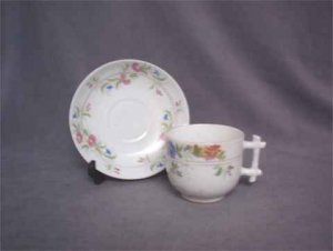 Antique German Presentation Cup & Saucer