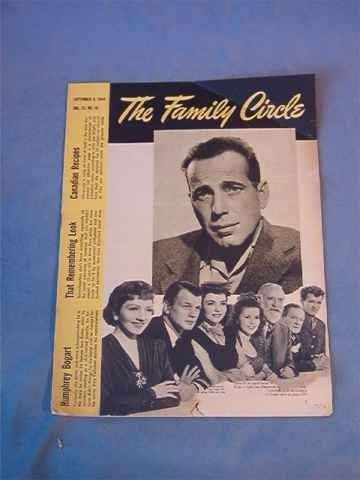 1944 Family Circle Magazine - Humphrey Bogart Cover