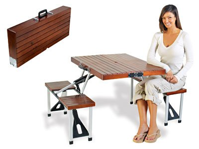 Foldable Wooden Picnic Table