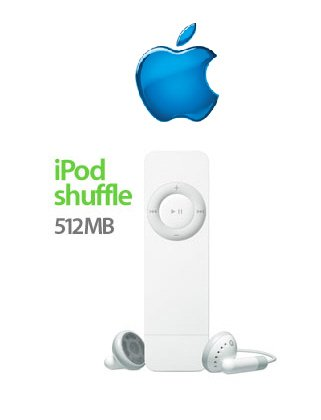 Apple iPod Shuffle 512MB Pocket-Size Digital Music MP3 Player