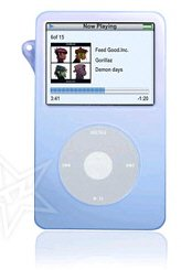 Apple Video 30GB Silicone Blue Ipod Case