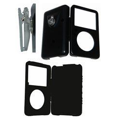 iPod Video Aluminum Black Case + Belt Clip