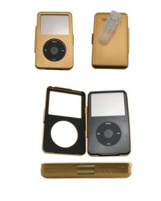 iPod Video Aluminum Gold Case + Belt Clip