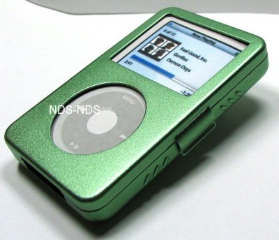 iPod Video Aluminum Green Case + Belt Clip