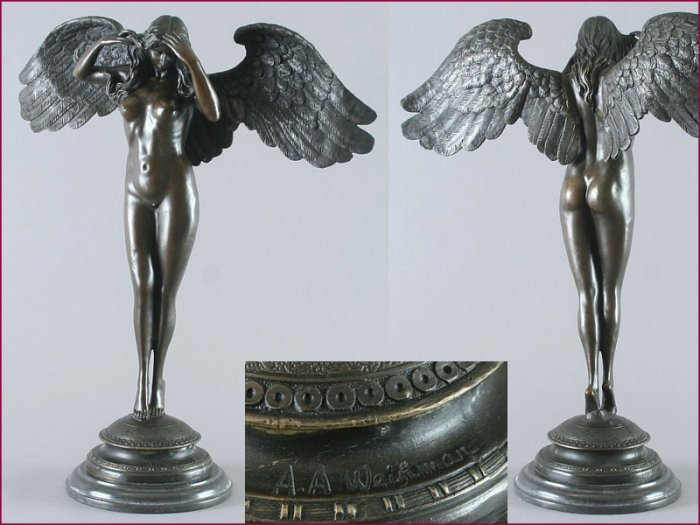 "Art Deco Bronze Sculpture ""Descending"" visit: www.1900style.es"
