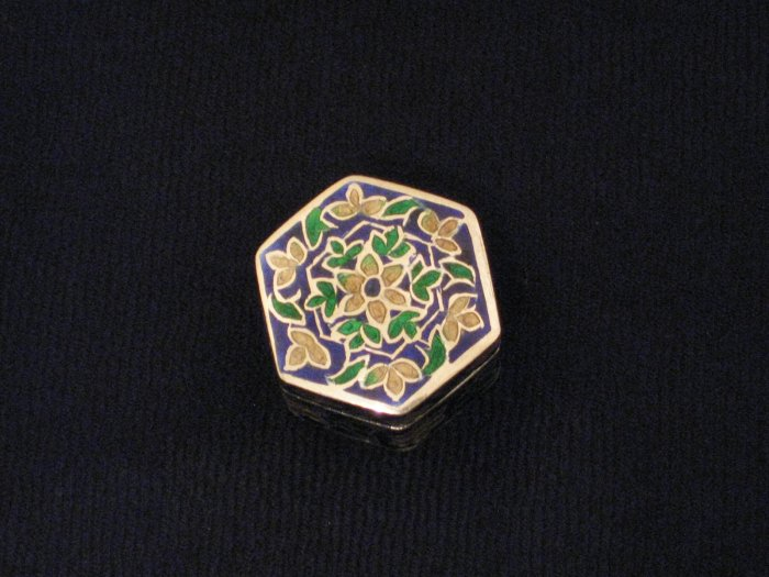 Multi-Colored Enameled Sterling Silver Ring Box