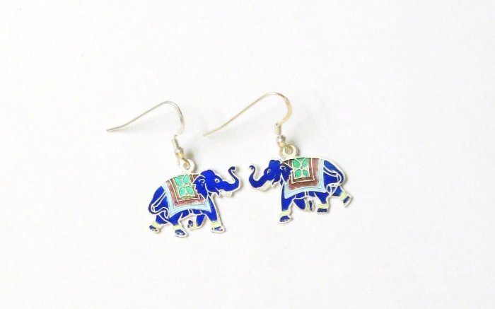 Elephant Sterling Silver Ear Rings
