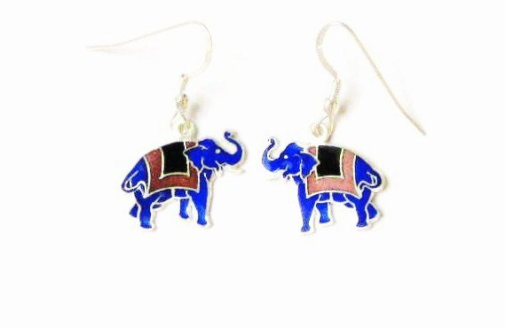 Elephant Sterling Silver Ear Rings