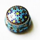 Blue Enameled Sterling Silver Ring Box