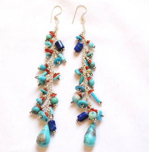 TQ060      Turquoise Earrings