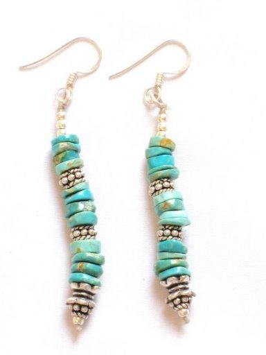 TQ061       Turquoise Earrings