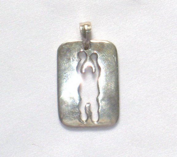 AQ018       Basketball Player Pendant in Sterling Silver