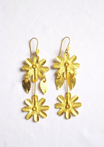 Gold Plated Earrings in Sterling Silver