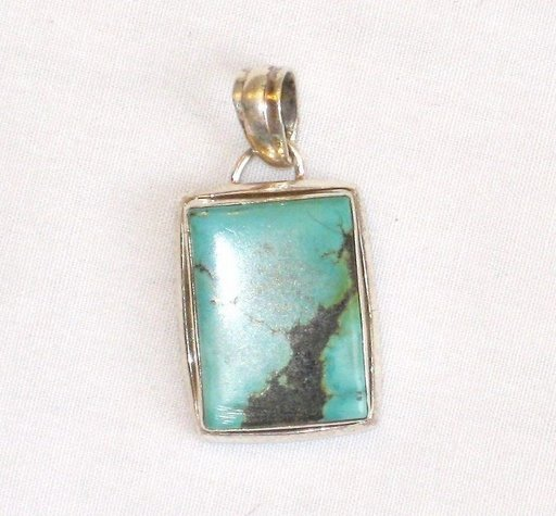PN027       Turquoise Pendant in Sterling silver