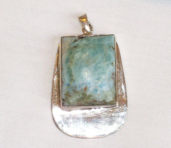 PN033 Turquoise Pendant in Sterling silver - SOLD