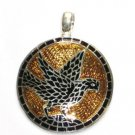 Flying Eagle - Enameled Pendant in Sterling Silver