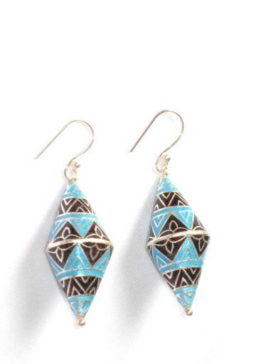 MN197      Enameled Earrings in Sterling Silver