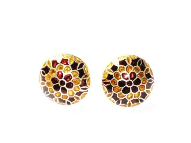 MN204       Enameled Earrings in Sterling Silver