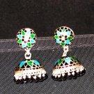 MN205   Enameled Earrings in Sterling Silver