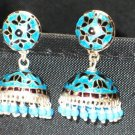 MN211     Enameled Earrings in Sterling Silver