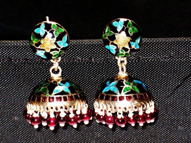 MN212 Enameled Earrings in Sterling Silver