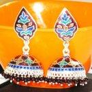 MN213 Enameled Earrings in Sterling Silver