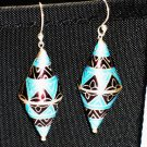 Enameled Earrings in Sterling Silver