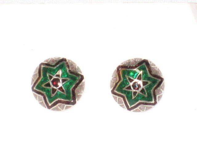 MN220       Enameled Earrings in Sterling Silver