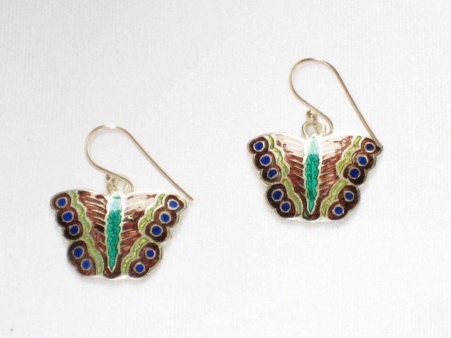 MN235       Enameled Earrings  in Sterling Silver