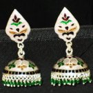 MN240    Enameled Meenakari Umbrella Chandeliers in Sterling Silver