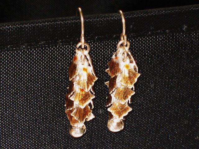 MN244       Enameled Earrings  in Sterling Silver