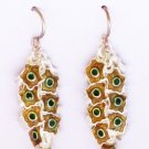 MN245       Enameled Earrings  in Sterling Silver