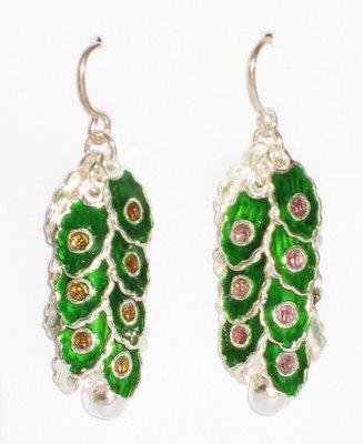 MN246       Enameled Earrings  in Sterling Silver