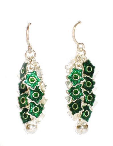 MN247       Enameled Earrings  in Sterling Silver