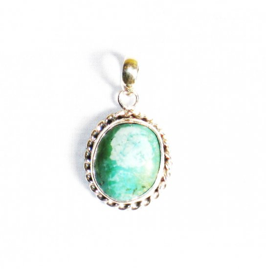 PN269  Turquoise Pendant in Sterling silver