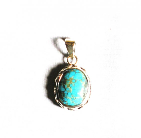 PN271  Turquoise Pendant in Sterling silver