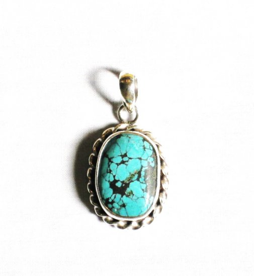 PN272  Turquoise Pendant in Sterling silver